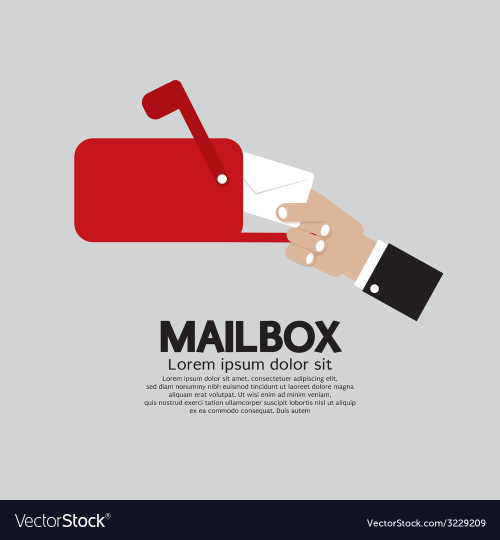 Mailbox side view vector | Price: 1 Credit (USD $1)