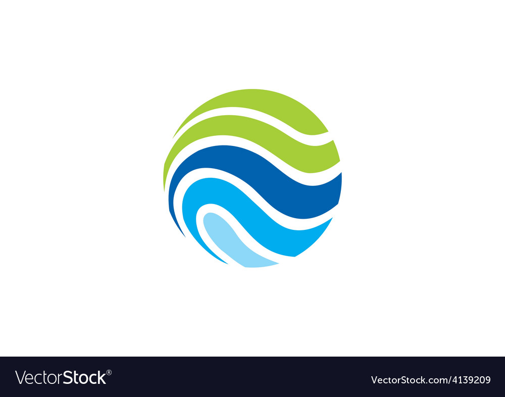 Sphere ecology water communication logo vector | Price: 1 Credit (USD $1)