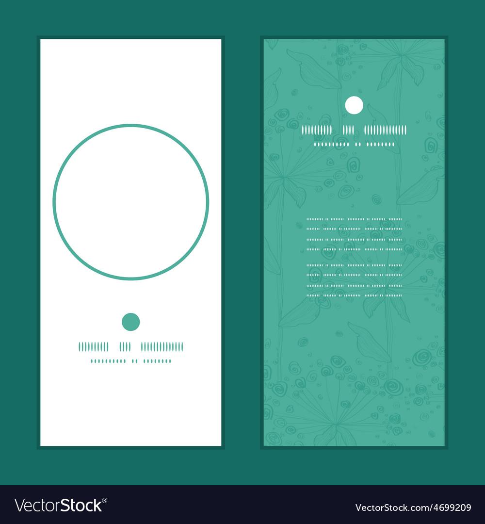 Summer line art dandelions vertical round vector | Price: 1 Credit (USD $1)