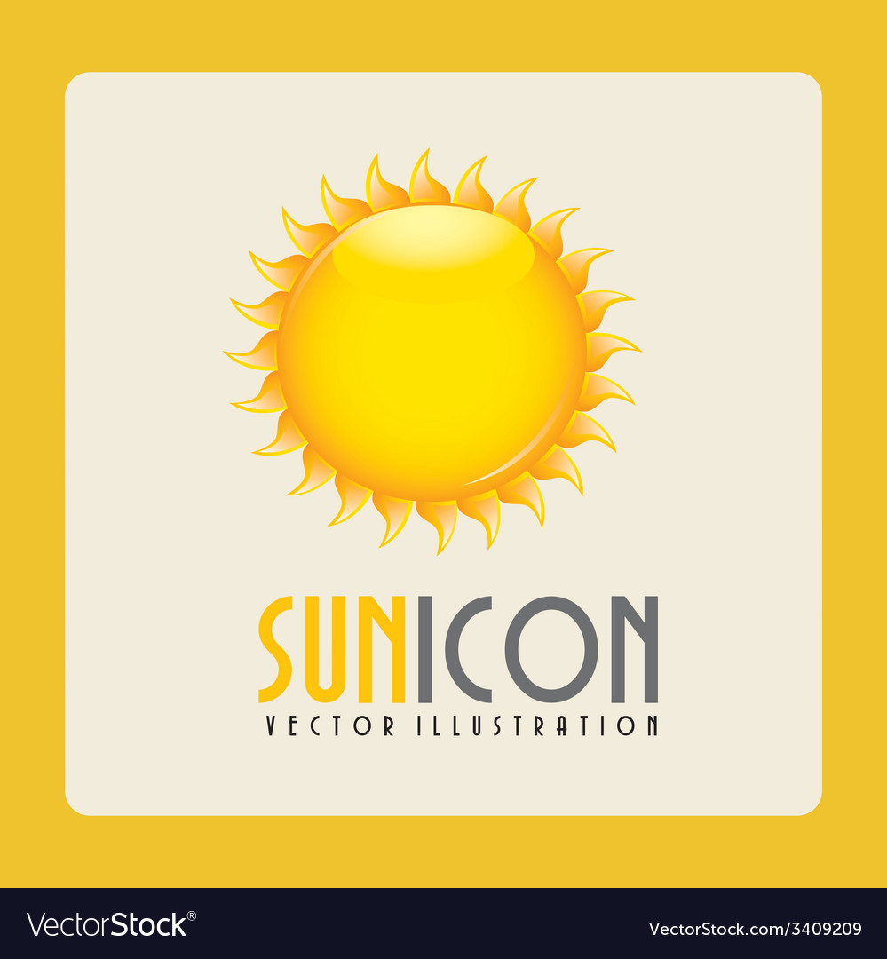 Sun design vector | Price: 1 Credit (USD $1)