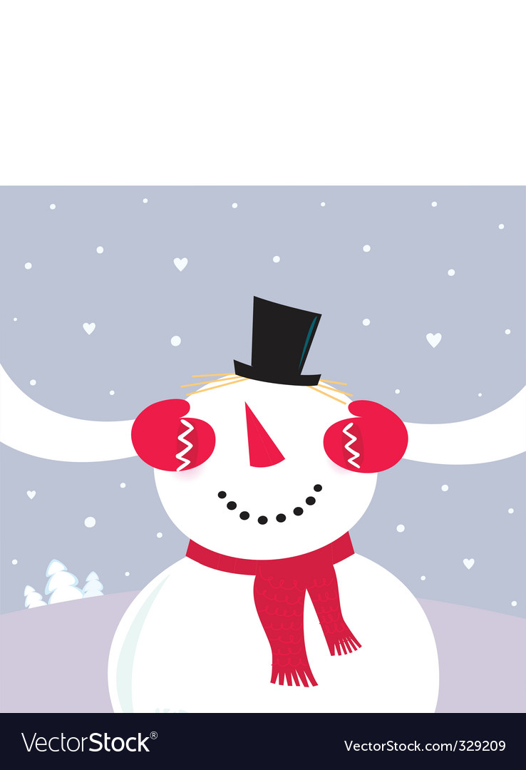 Surprise snowy couple in love vector | Price: 1 Credit (USD $1)