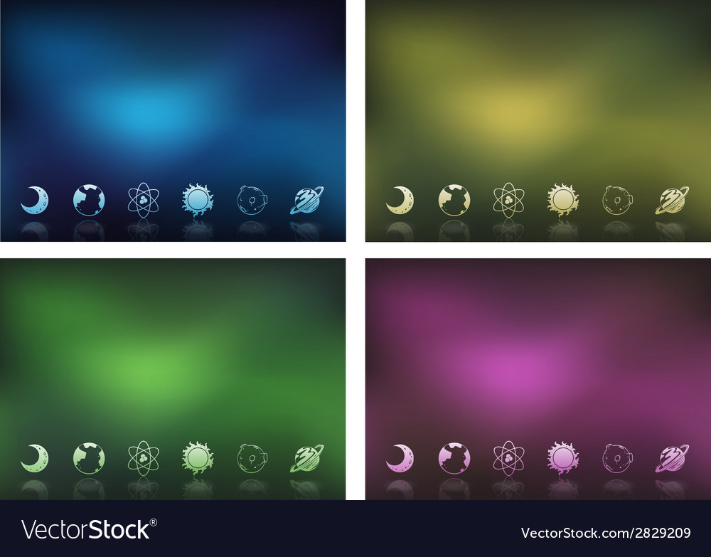 Templates showing the objects in the outerspace vector | Price: 1 Credit (USD $1)