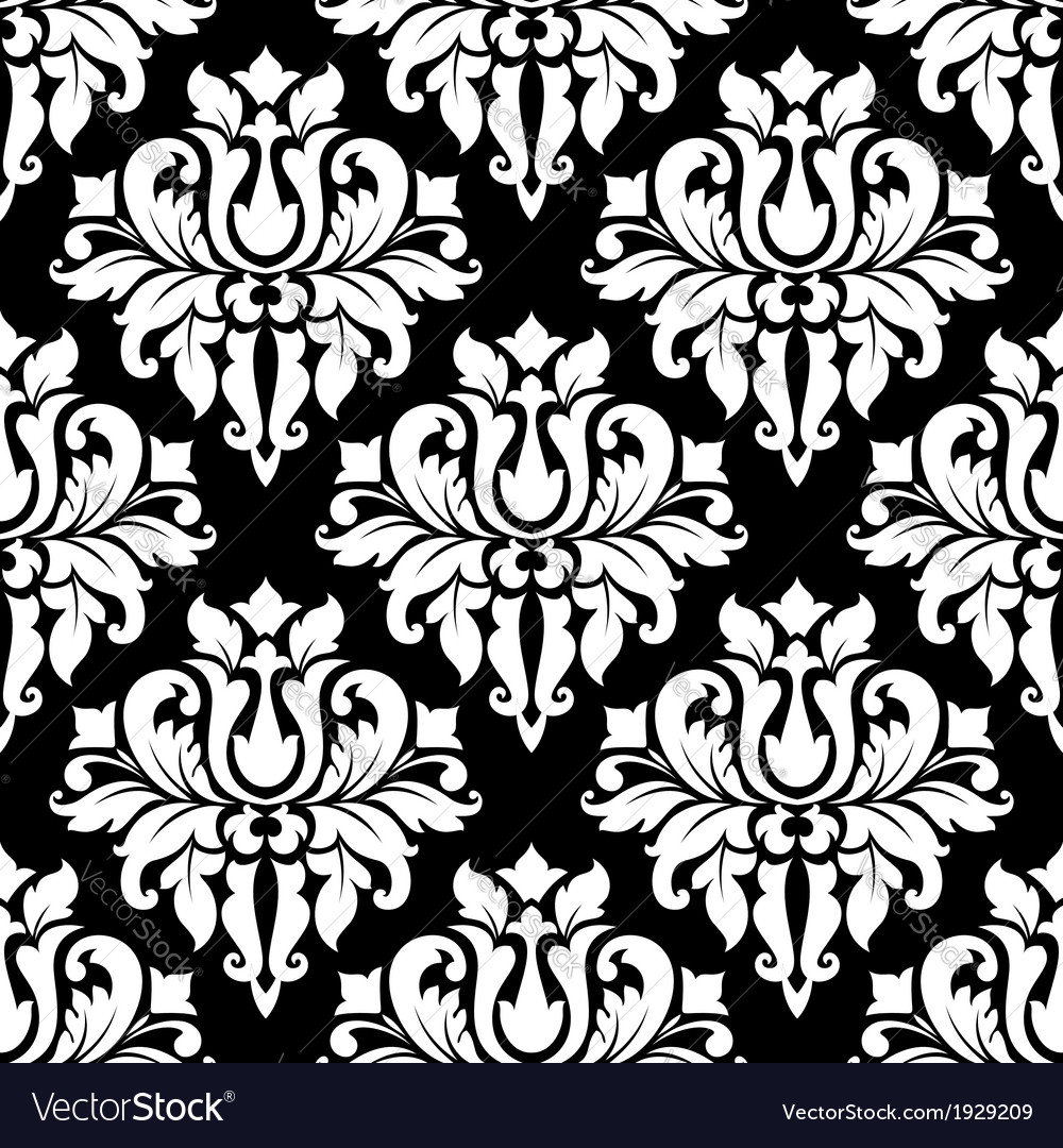 Vintage arabesque pattern with floral motifs vector | Price: 1 Credit (USD $1)
