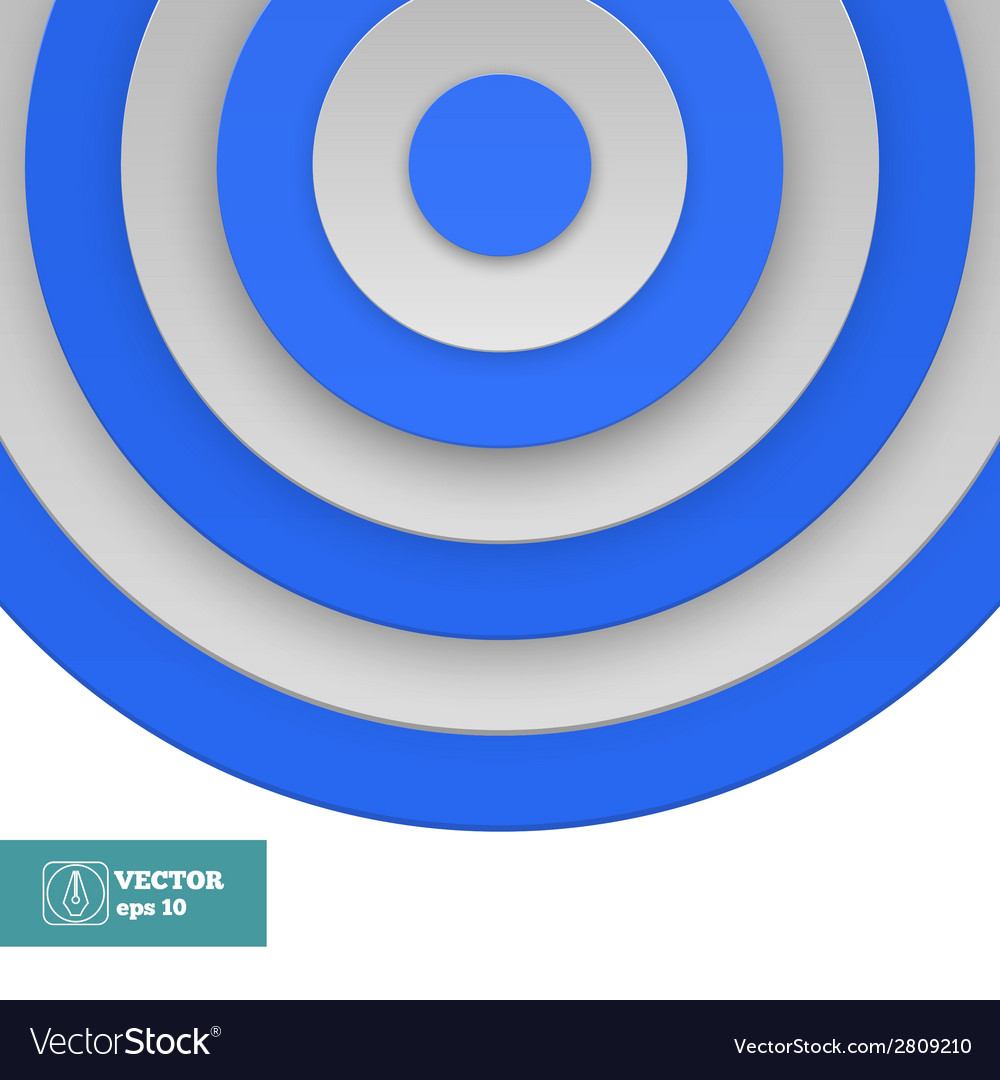 Blue target on white vector | Price: 1 Credit (USD $1)