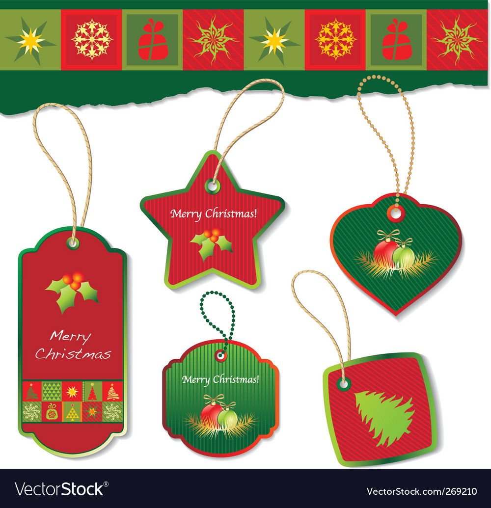 Christmas tag vector | Price: 1 Credit (USD $1)