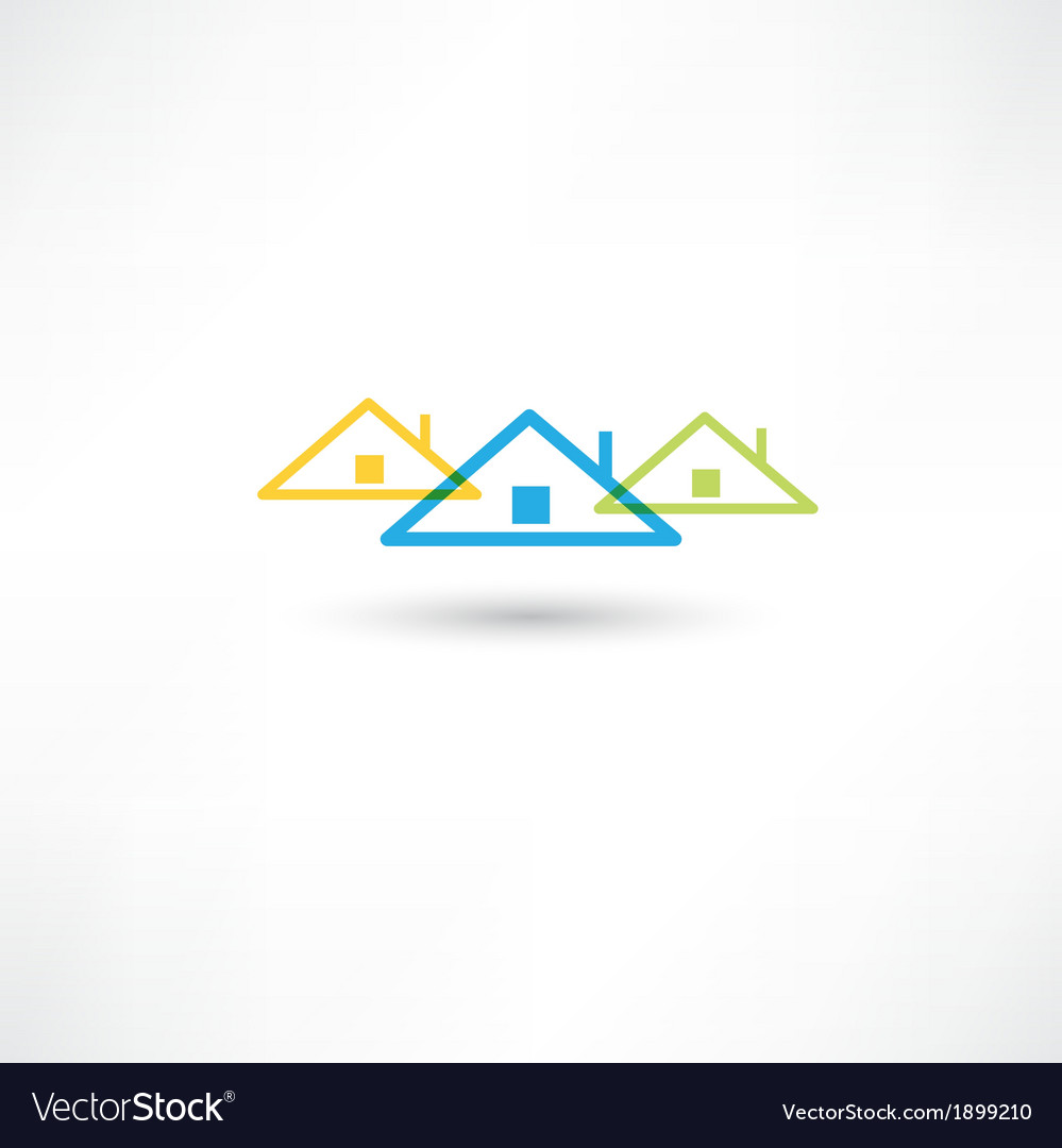 Colored roofs vector | Price: 1 Credit (USD $1)