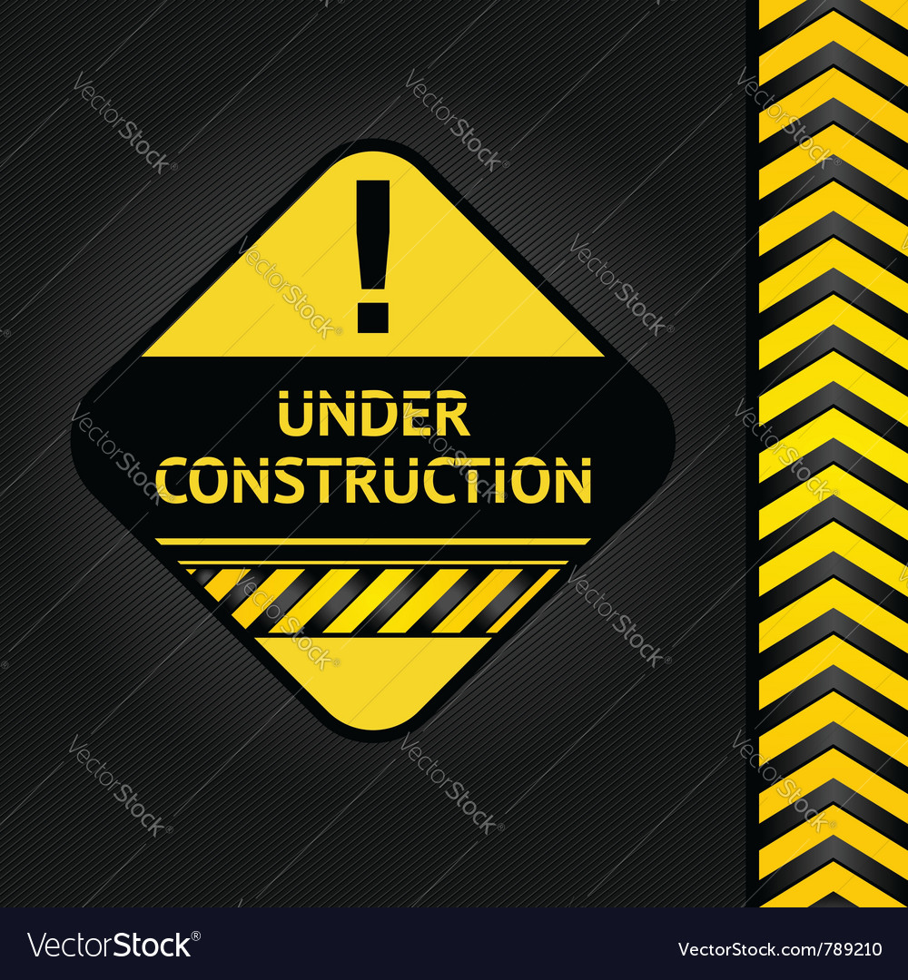 Corduroy black background under construction vector | Price: 1 Credit (USD $1)