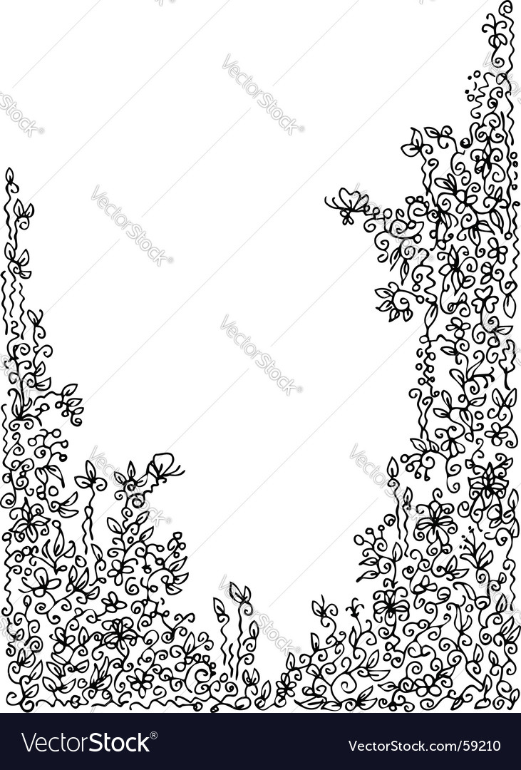 Decorative vignette vector | Price: 1 Credit (USD $1)