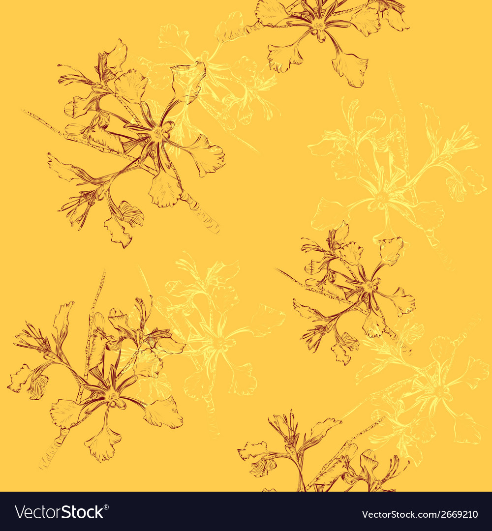 Floral vintage seamless pattern vector | Price: 1 Credit (USD $1)
