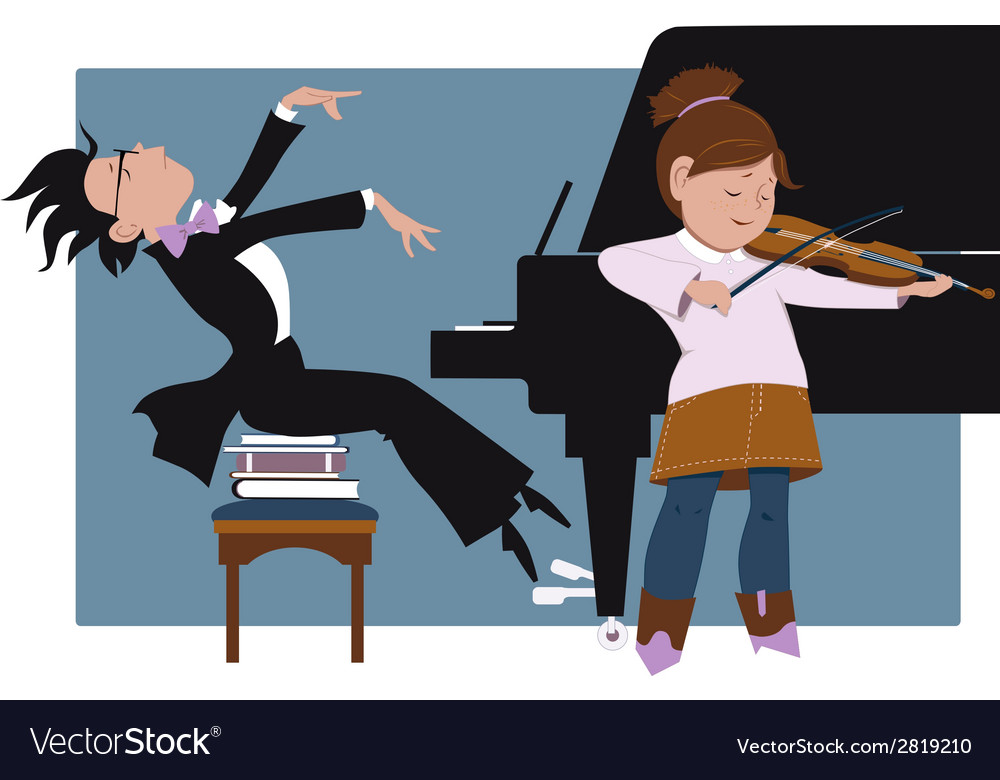 School recital vector | Price: 1 Credit (USD $1)