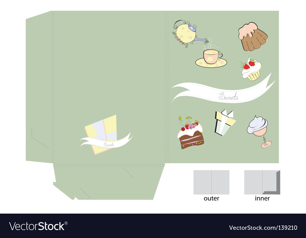 Template for folder with sweets vector | Price: 1 Credit (USD $1)