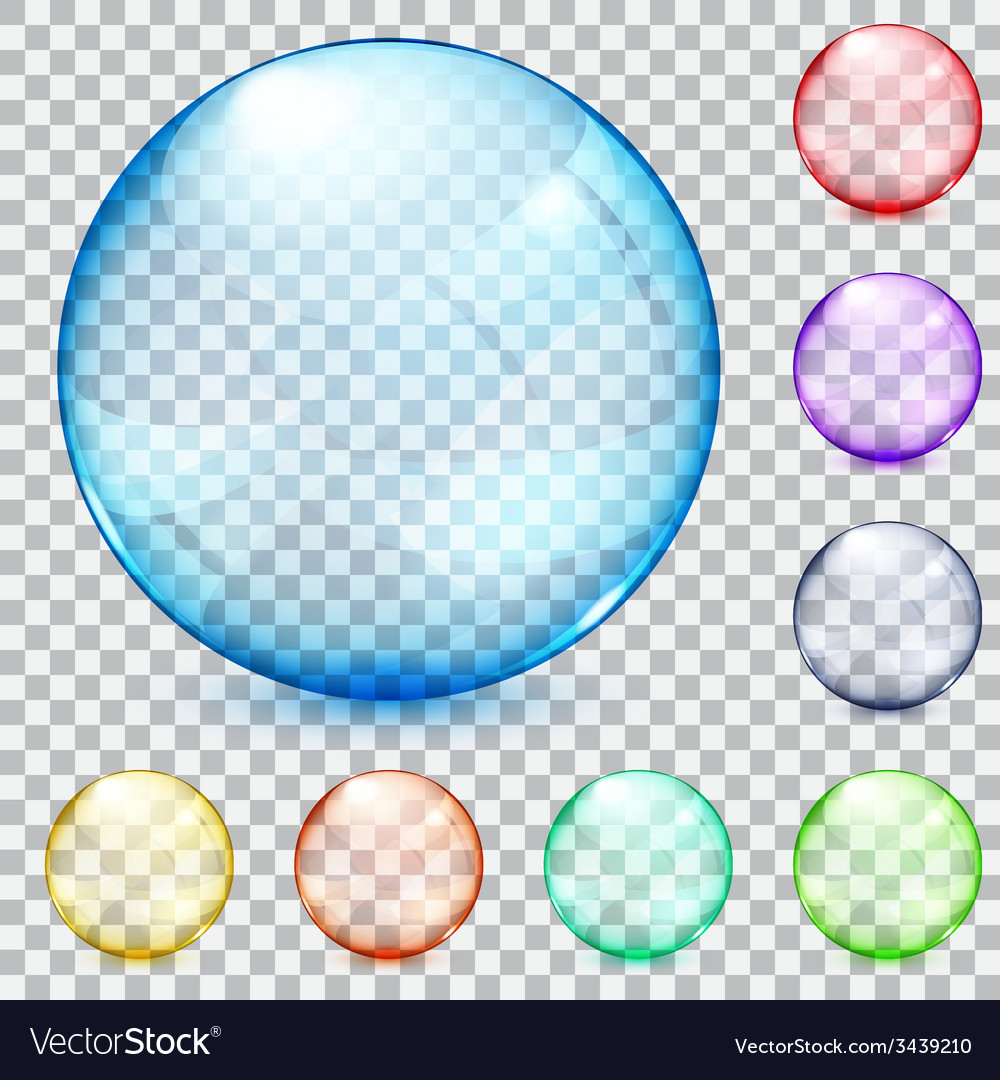 Transparent glass spheres vector | Price: 1 Credit (USD $1)