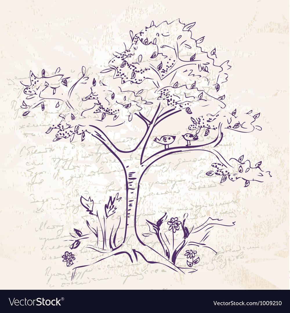 Tree ink2 vector | Price: 1 Credit (USD $1)