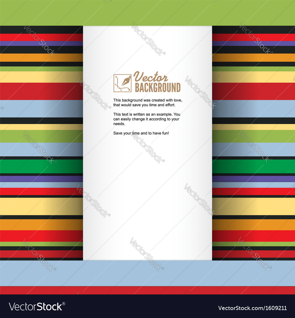 Abstract art rainbow lines colorful background vector | Price: 1 Credit (USD $1)