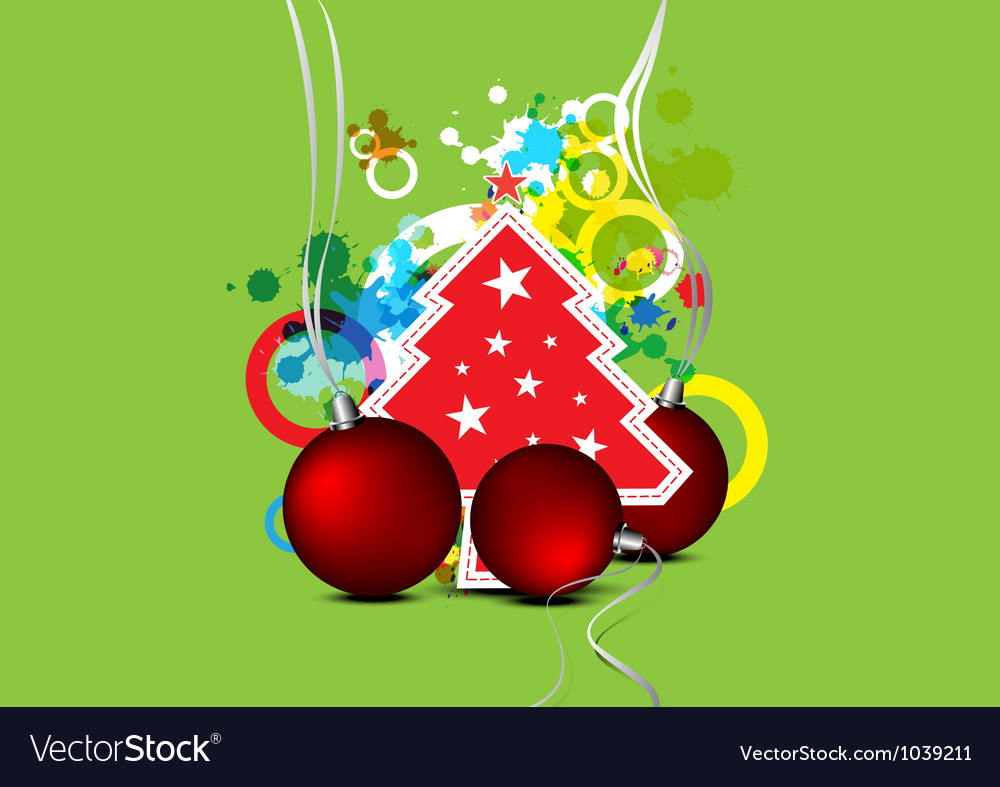 Christmas celebration background design vector | Price: 1 Credit (USD $1)