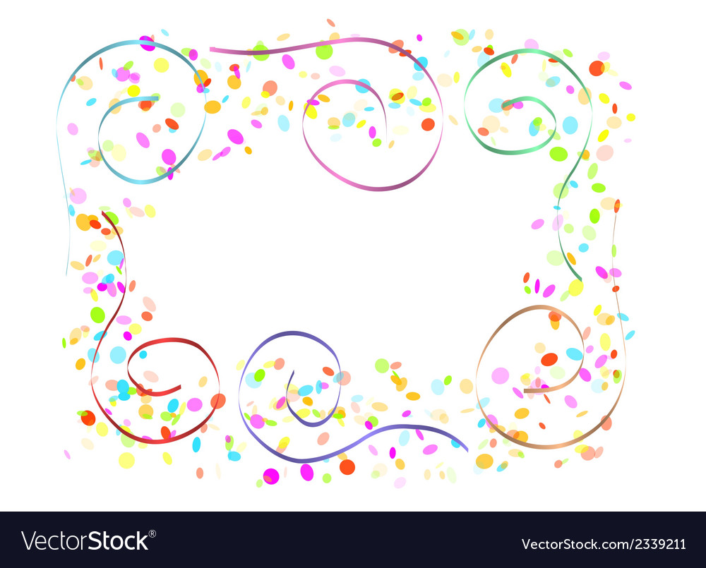 Confetti and spirals vector | Price: 1 Credit (USD $1)
