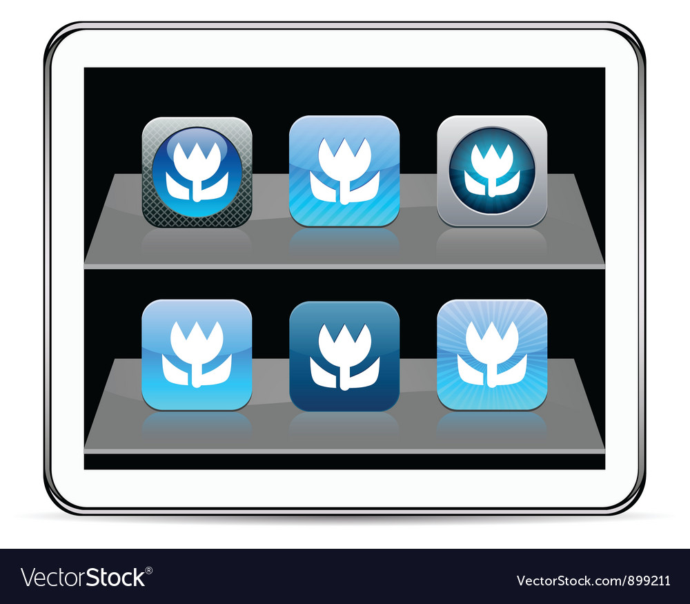 Macro blue app icons vector | Price: 1 Credit (USD $1)