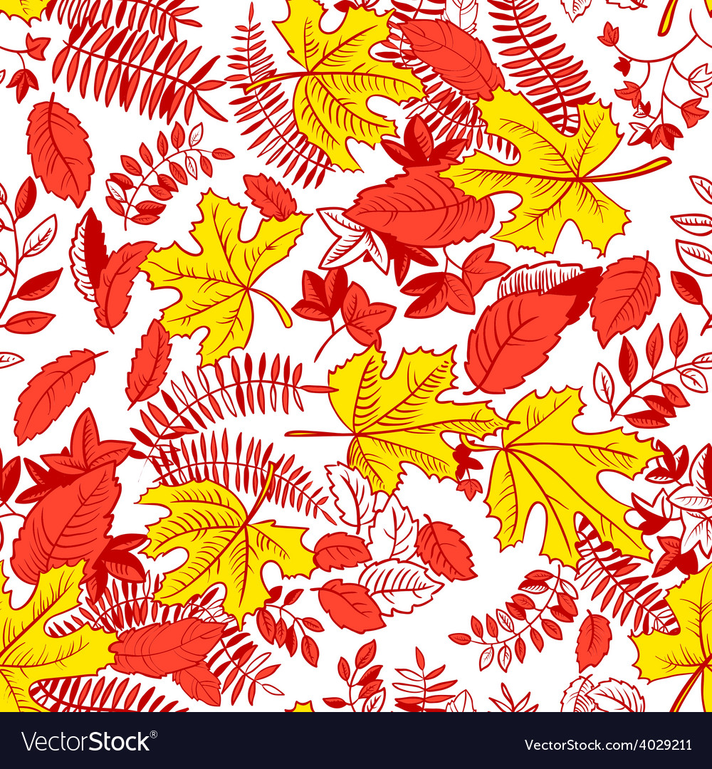 Pattern with leaves vector | Price: 1 Credit (USD $1)