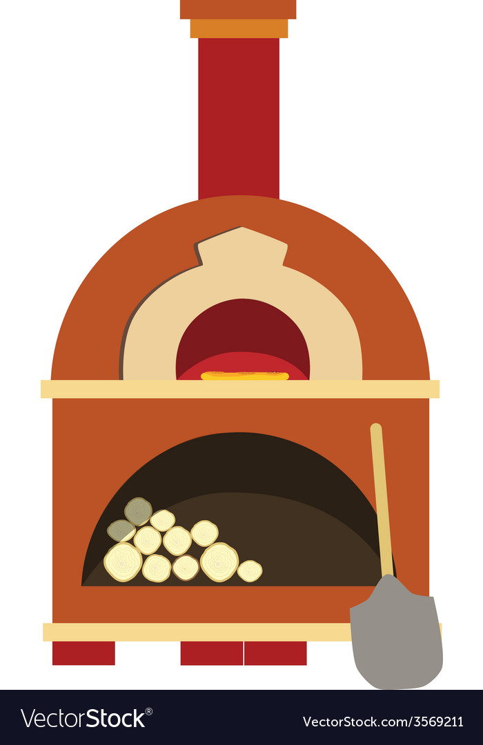Pizza oven vector | Price: 1 Credit (USD $1)