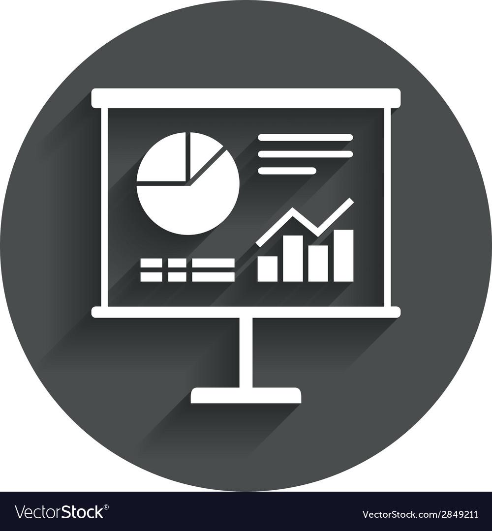Presentation billboard sign icon diagram symbol vector | Price: 1 Credit (USD $1)