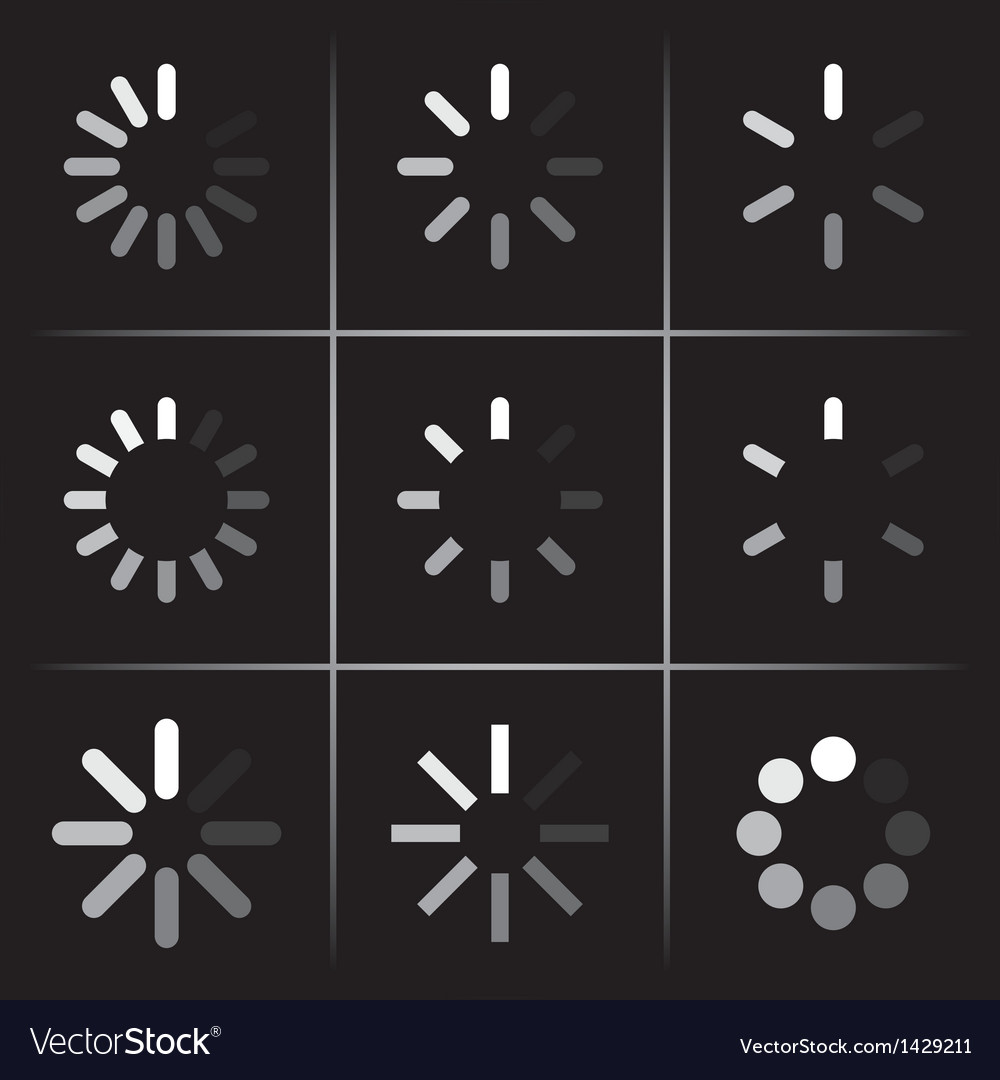 Progress indicators vector | Price: 1 Credit (USD $1)