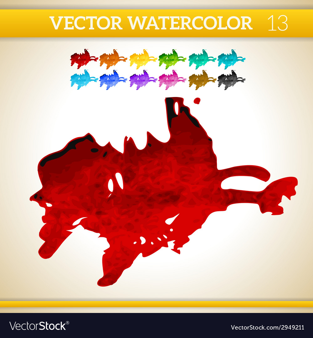 Red watercolor artistic splash for design and vector | Price: 1 Credit (USD $1)