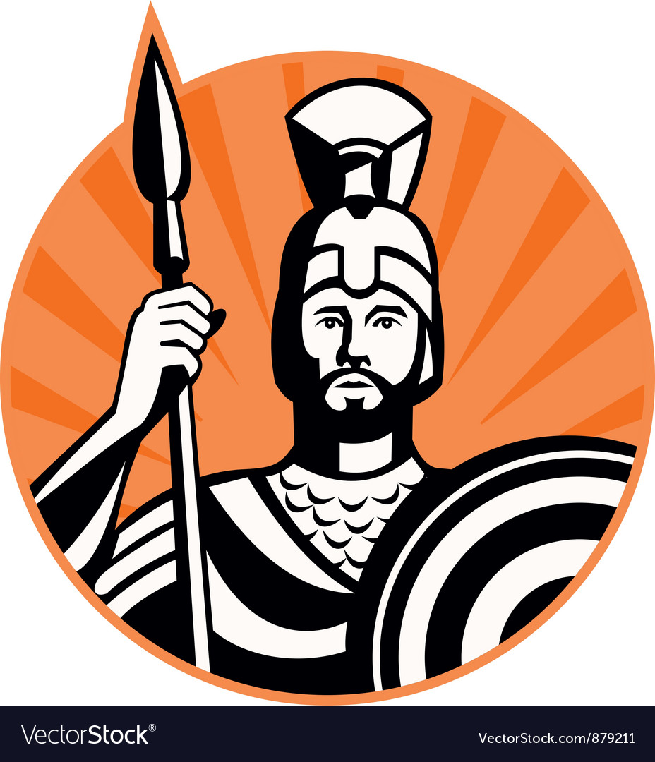 Roman centurion soldier vector | Price: 1 Credit (USD $1)