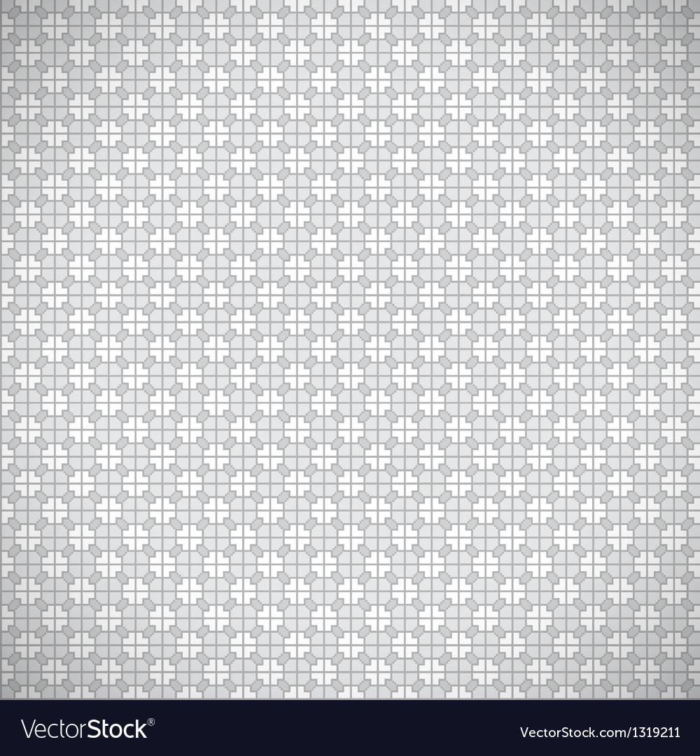 Seamless grey retro pattern background vector