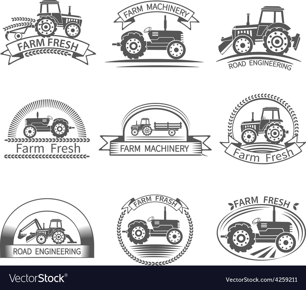 Tractor driver label vector | Price: 1 Credit (USD $1)