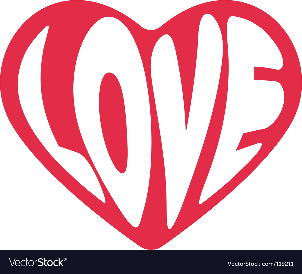 Valentine love sign vector | Price: 1 Credit (USD $1)