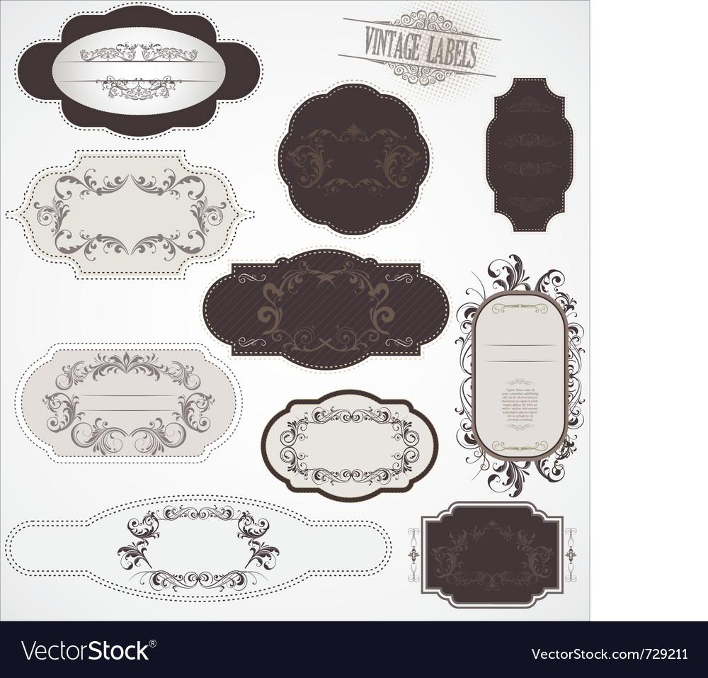 Vintage labels vector | Price: 1 Credit (USD $1)