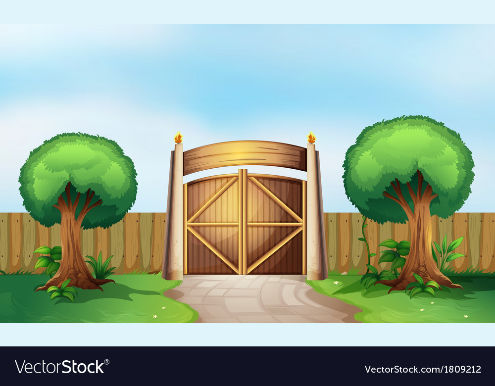 A gated park vector | Price: 1 Credit (USD $1)