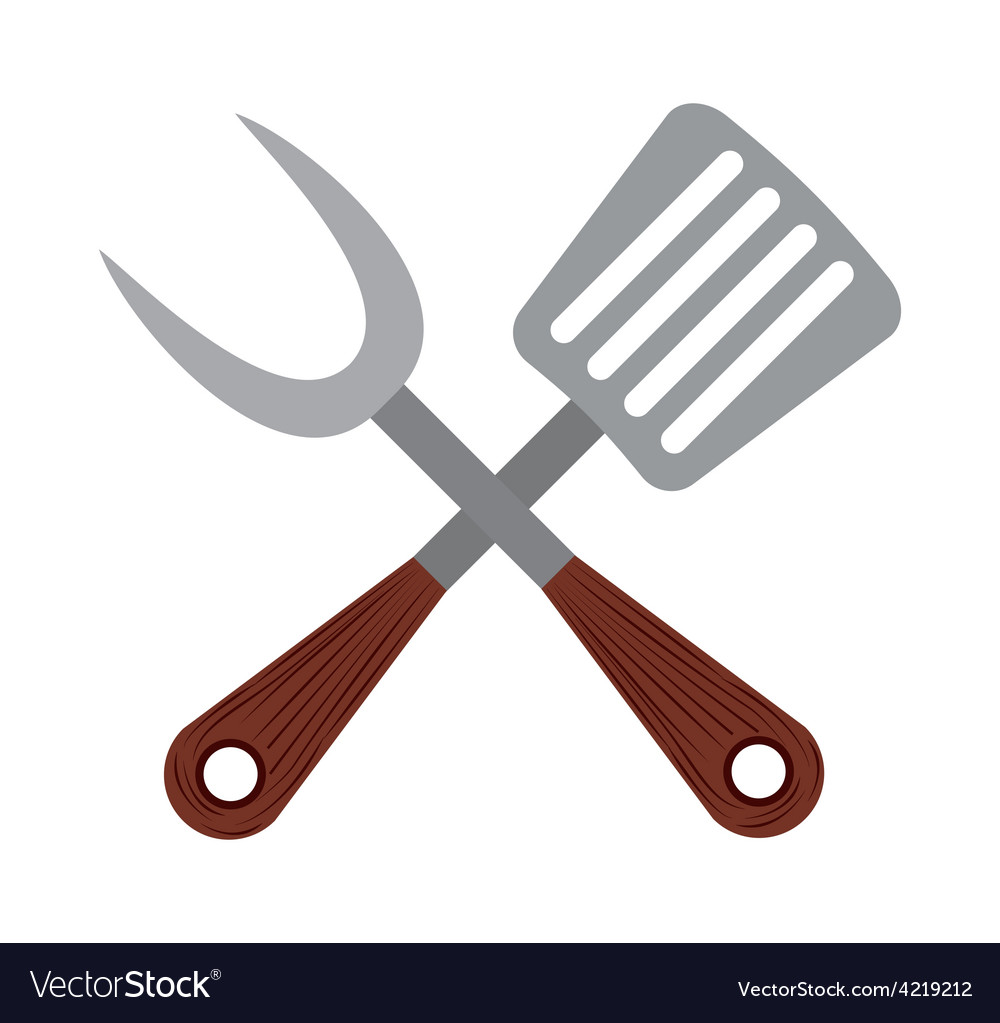 Bbq icon vector | Price: 1 Credit (USD $1)