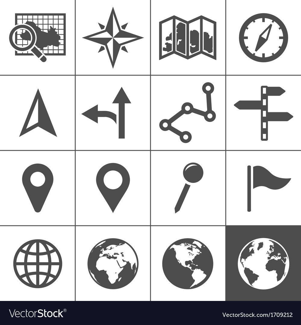 Cartography and topography icons vector | Price: 1 Credit (USD $1)