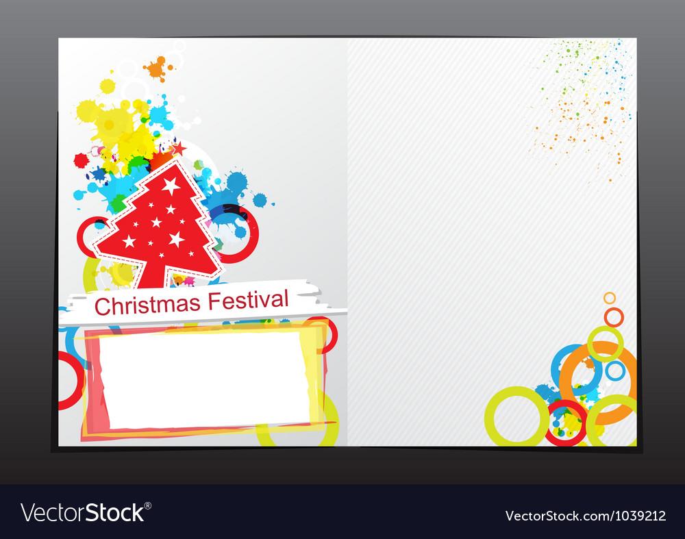 Christmas celebration brochure design vector | Price: 1 Credit (USD $1)
