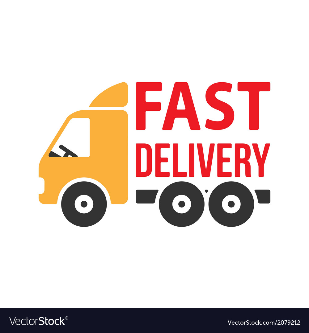 Fast delivery icon flat style vector   Price: 1 Credit (USD $1)