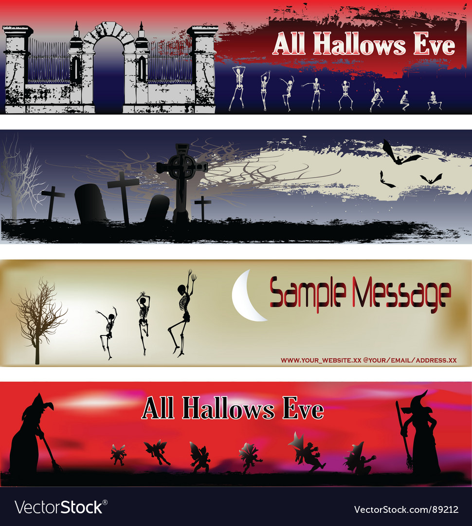 Halloween web banner templates vector | Price: 1 Credit (USD $1)