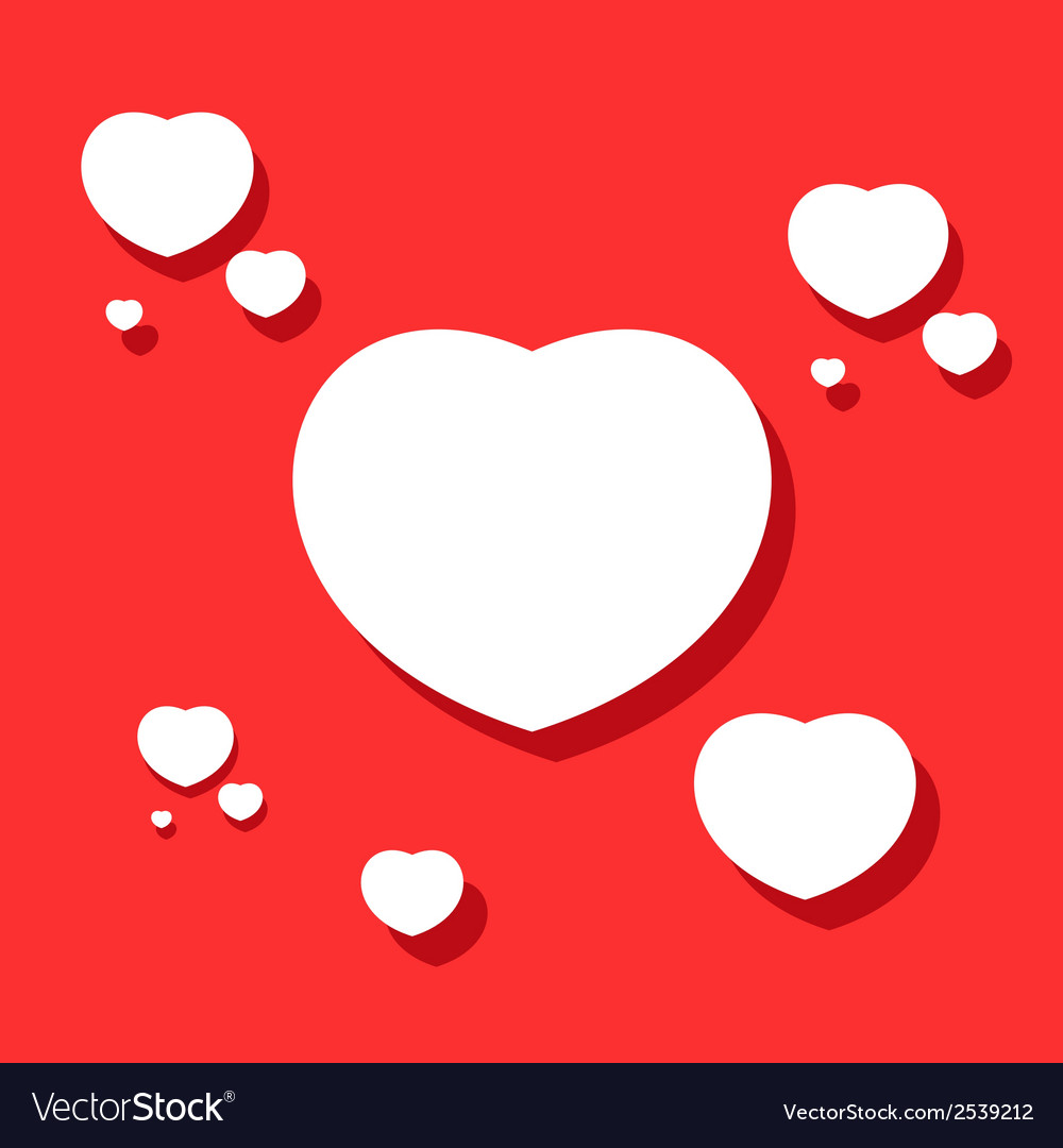 Hearts on valentines day vector | Price: 1 Credit (USD $1)