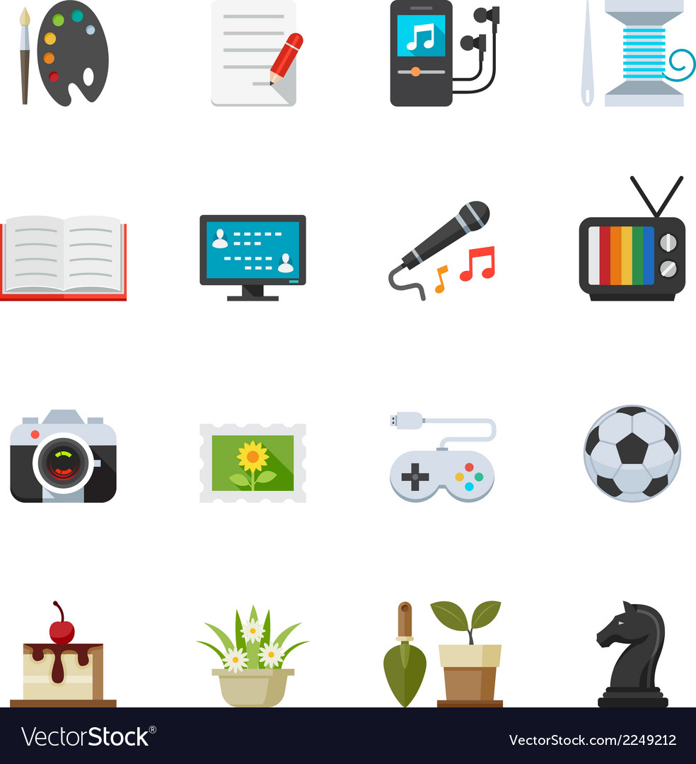 Hobbies icons vector | Price: 1 Credit (USD $1)