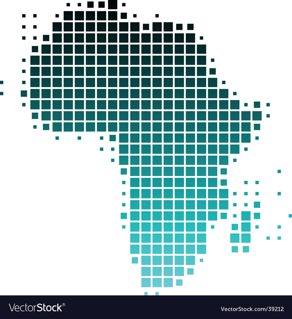 Map of africa in squares vector | Price: 1 Credit (USD $1)