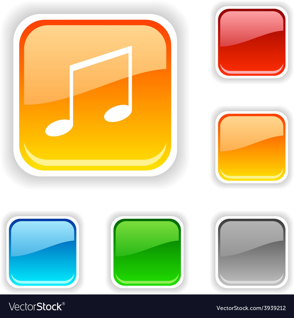 Music button vector | Price: 1 Credit (USD $1)