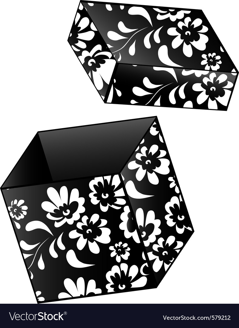 Vintage gift box vector | Price: 1 Credit (USD $1)