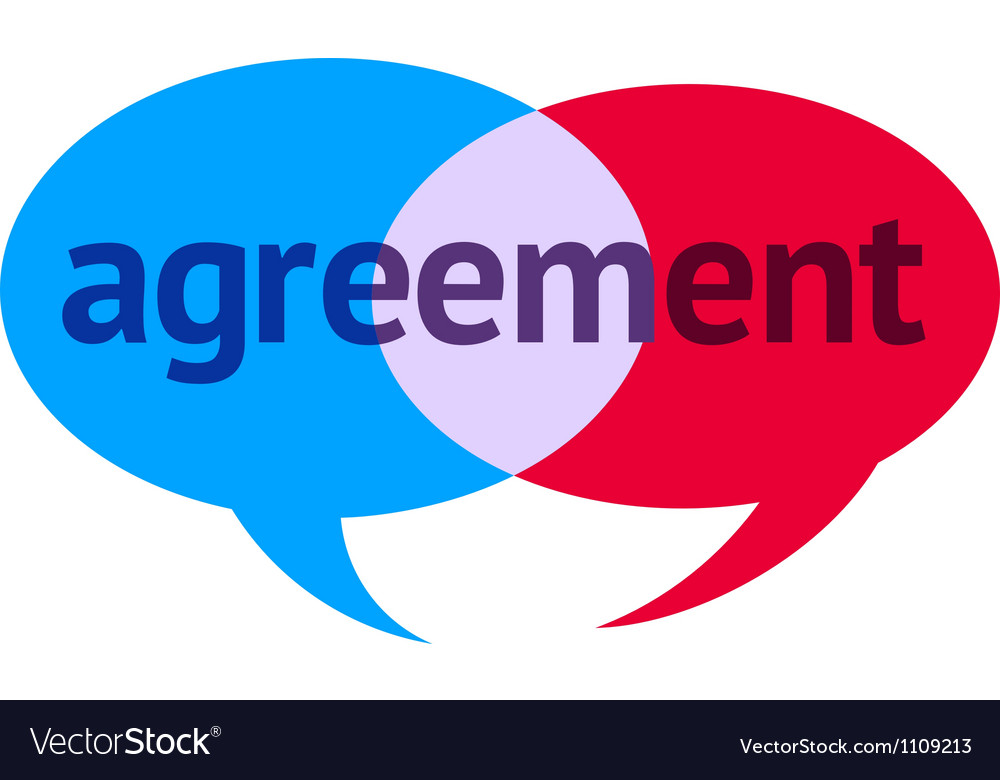 Agreement speech bubble vector | Price: 1 Credit (USD $1)