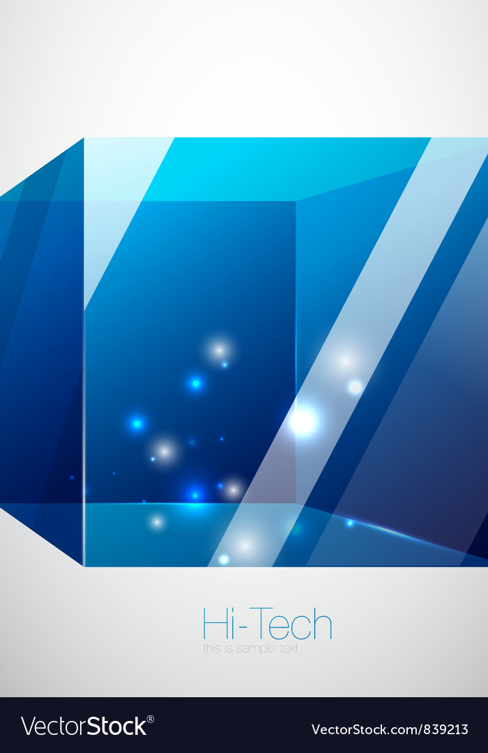 Blue glass cube background vector | Price: 1 Credit (USD $1)