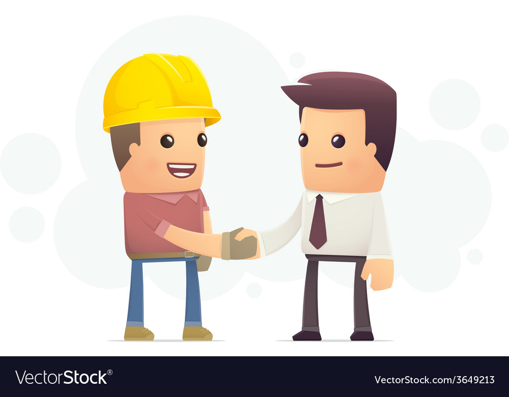 Construction contract vector | Price: 3 Credit (USD $3)