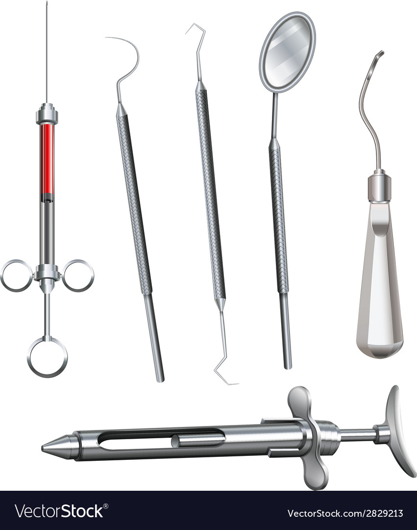 Different dental instruments vector | Price: 1 Credit (USD $1)