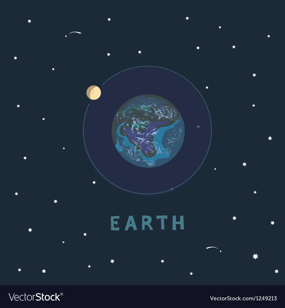 Earth space view vector | Price: 1 Credit (USD $1)