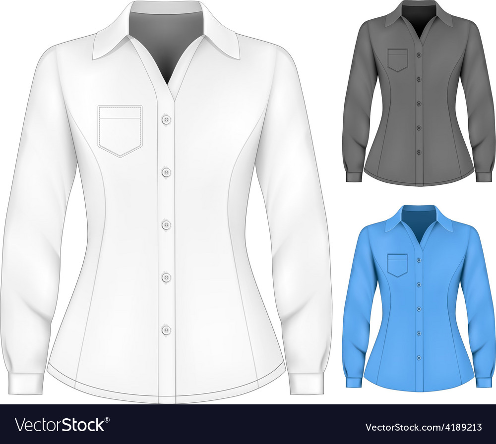 Formal long sleeved blouses for lady vector | Price: 1 Credit (USD $1)
