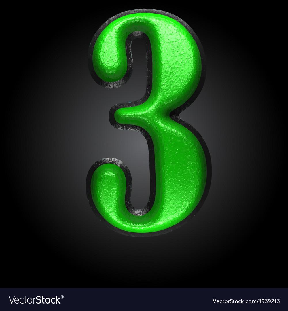 Green plastic figure 3 vector | Price: 1 Credit (USD $1)