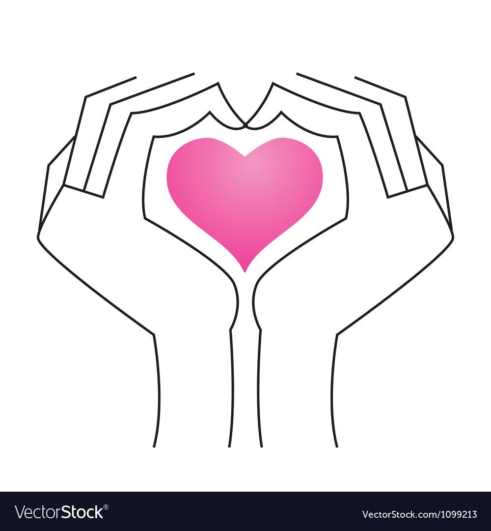 Heart in hands vector   Price: 1 Credit (USD $1)